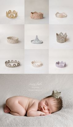 picture crocheted baby crowns