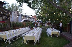 magical backyard wedding