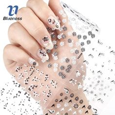 Sticker Glitter Nail Art