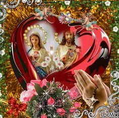 Jesus and Maria Jesus And Mary Pictures, Catholic Pictures, Mary And Jesus, Jesus Is Lord, Image Jesus, Jesus Christ Images, Jesus Photos Wallpapers, Virgin Mary Painting, Guardian Angel Pictures