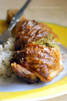 Csirkecomb brokkolis krémsajttal töltve Meat, Recipes, Food, Recipies, Essen, Meals, Ripped Recipes, Yemek, Cooking Recipes