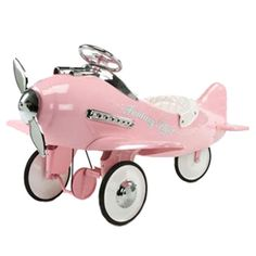 Pink Flyer Pedal Plane and for Girls Boys in Gifts : Holiday Gifts And Toys at PoshTots