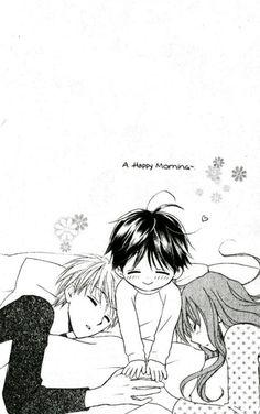 Happy morning ~ Faster than a Kiss manga - Kazuma, Fumino, & Teppei
