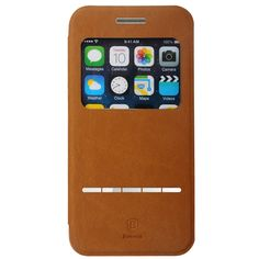 Baseus Terse Window Leather Case for iPhone 6 leather case for iphone 6s for iphone 6 plus case Digital Guru Shop  Check it out here---> http://digitalgurushop.com/products/baseus-terse-window-leather-case-for-iphone-6-leather-case-for-iphone-6s-for-iphone-6-plus-case/