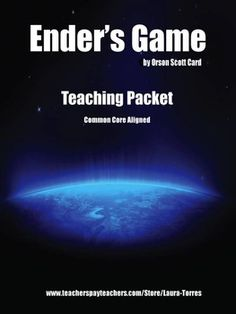 Ender's Game teaching packet. The movie comes out this fall, so it's the perfect time to use this classic novel in the classroom.