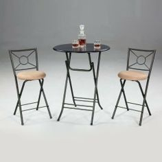 3 Piece Folding Pub Set By Chintaly By Chintaly Imports. $242.94. Metal  Framed Stools