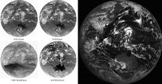 The first IR images of Korean satellite COMS from February 17, 2010