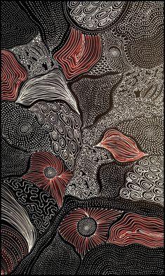 Amazing Australian Aboriginal Artwork by Freda Price Petyarre / Country is the title of the painting. Online Painting, Dot Painting, Artist Painting, Aboriginal Artwork, Multimedia Arts, Most Famous Paintings, Desert Art, Indigenous Art, Mandala Design
