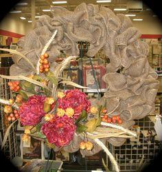 Burlap Fall Wreath...very easy to do!!!