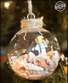 Create these Seashell Baubles for a coastal-inspired Christmas with Saltrock - DIY Natural Christmas Decorations