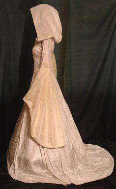Renaissance Handfasting medieval wedding dress hooded | eBay