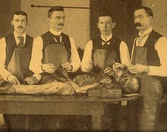 How it used to be done.....  Victorian doctors, dissection