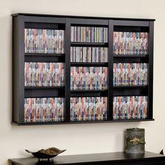 Attrayant Prepac Large Wall Mounted Media Shelf, Black