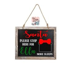 Christmas Countdown, Christmas Signs, Christmas Home, Christmas Decorations, Small Chalkboard Signs, Hairstylist Apron, Dog Food Mat, Hair Stylist Gifts, Wood Trim