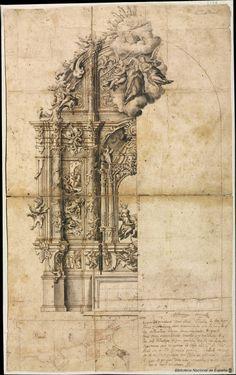 Proyecto para un retablo de san Benito (174-)