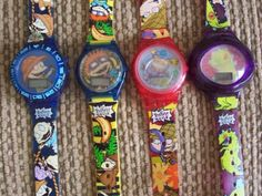Rugrats watches from Burger King! I remember chuckies smelt like bananas! Childhood Memories 90s, Childhood Toys, Rugrats, Back In The 90s, 90s Girl, 90s Nostalgia, Ol Days, The Good Old Days, The Past