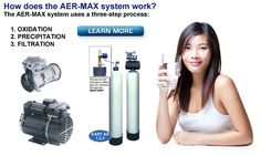 well water treatment without chemicals.... for iron and sulfur.   How does the AER-MAX system work?