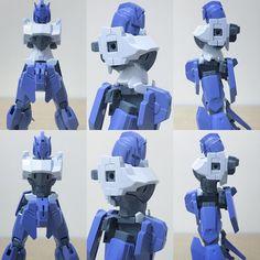 "161 Likes, 9 Comments - blue blue / あお (@blueblue0625) on Instagram: ""キュッと引き締まった細身のウエストを目指しました。 #ig模型同好会 #modelkit #plamo #plasticmodel #プラモデル #mecha #robot #gunpla…"""