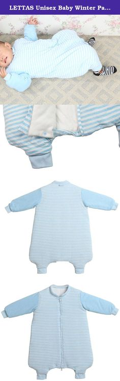 "LETTAS Unisex Baby Winter Padded Cotton Stripe Zip up Sleep Sack with Feet Thicken Blue S (0-12 Months). LETTAS Size Dimensions Thicken Cotton Baby Sleepbag ★ - S (0-12 Moths) : Length is 27.5""/70cm,suitable for baby height between 21""-31"" or birth (4kg/8Ibs) to 12 momths ★ - M (12-24 Moths): Length is 35.5""/90cm,suitable for baby height between 32""-38"" or 12-24 months LETTAS-One Stop Baby Product Choice Baby cloth diaper, bath towel, washcloth, sleeping bag, drool bibs, newborn mittens…"