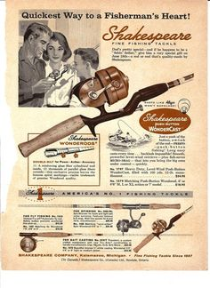 1961 Outdoor Life Magazine Page Fishing Fish by TheIDconnection, $10.00