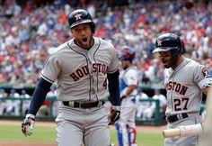 MLB: Springer y los campeones Astros abren venciendo a Rangers