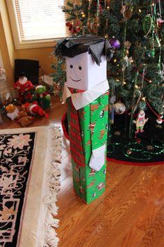 gift wrap human shaped