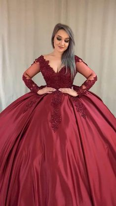 Kids Prom Dresses, Prom Dresses With Pockets, Pretty Prom Dresses, Red Wedding Gowns, Fancy Wedding Dresses, Burgundy Quinceanera Dresses, Pink Evening Gowns, Sweet 15 Dresses, Elegant Ball Gowns