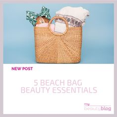If you are eager to head to the beach, this post is for you! Discover the 5 beauty essentials you should have on your beach bag! Check the new post on My Beauty Blog 😍  #cosmetics #skincare #blog #beauty #beautyblog #onlineshop #onlinestore #instabeauty #mybeautyblog #mybeautybloom Skincare Blog, Beach Essentials, My Beauty, Straw Bag, Skin Care, Cosmetics, Check, Bags, Handbags