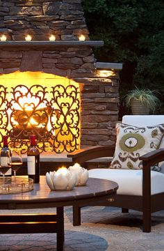 cozy patio....