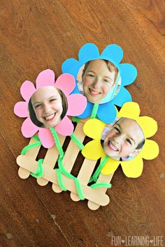 Mother's Day Flower Frame Craft That Looks Like A Picket Fence! - Fun Learning Life