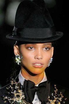 Black lovely hat