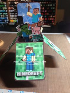 Minecraft card in a box