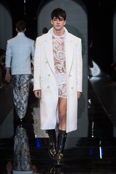 #Coat - Versace Men's Fall Winter 2013 Oh my goodness  this whole outfit is perfect.