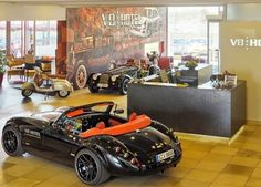 V8 Hotel  Lobby~Stuttgart~Germany. Let the heart of car lovers beat faster with vintage cars, luxury vehicles and exotic rarities.