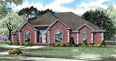 European Traditional House Plan 82124 Elevation