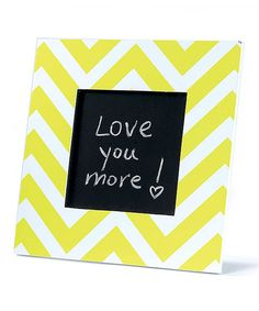 Look at this Yellow Zigzag Tabletop Chalkboard on #zulily today!