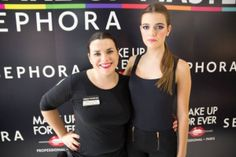 Marina nuestra chica mes de julio ( revista mas modelos) en su sesión de MAKe UP Sephora