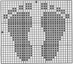 Baby feet freebie, sweet! Could use. For a knitting pattern. White squares knit black purl.: