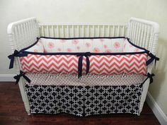Price is for a 3 piece set.  Includes:  Crib Bumpers 4 Piece, (Thick Bumpers are shown) Ties On Top And Bottom Crib Skirt 4 Sided (Tailored