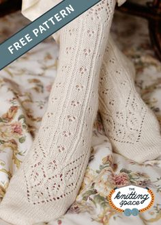 I just love these delicate knit lace socks which have been knitted with a silk blend. Get the FREE knitting pattern NOW . Knitted Socks Free Pattern, Lace Knitting Patterns, Lace Patterns, Knitting Socks, Free Knitting, Knit Socks, Lace Socks, Knitting Magazine, Patterned Socks