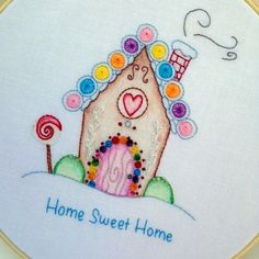 Gingerbread House Hand Embroidery Pattern door MyPinkSugarLife