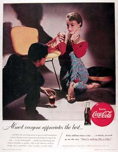 Coca-Cola 1955 The Flirt Player Almost Everyone - Mad Men Art: The 1891-1970 Vintage Advertisement Art Collection
