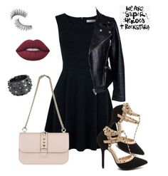 """""""Rock"""" by keila-87 on Polyvore featuring moda, DENY Designs, Oasis, Alexander McQueen, Valentino, Bling Jewelry, Trish McEvoy e Lime Crime"""