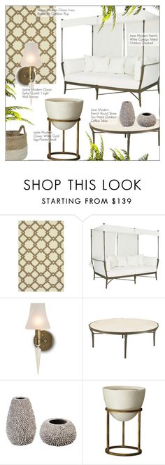 """""""Outdoor Decor"""" by kathykuohome ❤ liked on Polyvore featuring interior, interiors, interior design, home, home decor, interior decorating, modern, outdoors, outdoorliving and modernoutdoors"""