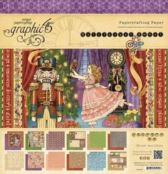 Graphic 45 Nutcracker Sweet 12x12 Pad RETIRED by DieCutCrafts - want to make a nutcracker diorama in one of my decorative bird cages!