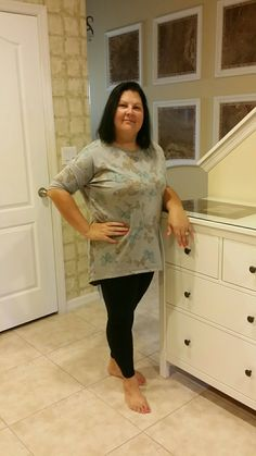 LuLaRoe Irma top with black leggings
