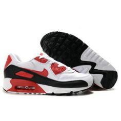 Only $80.99 Plus Free Shipping, NIKE AIR MAX 90 MENS SHOES WHITE RED On 8xstore.com