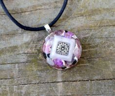 Orgone Energy Pendant  VIOLET FLAME   Stitchtite by 432oneness