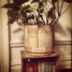 DIY Vintage Literature Planters