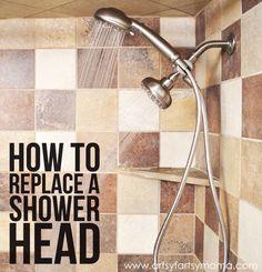 How to Replace a Shower Head at artsyfartsymama.com